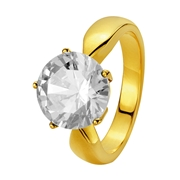 Eve Gold Plated Ring Met Zirkonia 10mm.