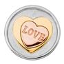 LUCARDI Stalen munt 3d hart S (1015733)