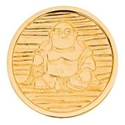 LUCARDI Stalen munt buddha gold L (1015765)