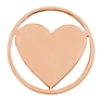 LUCARDI Stalen munt open hart rose L (1016726)